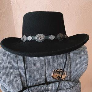 Rare Vintage Harley Davidson Cowboy Hat black